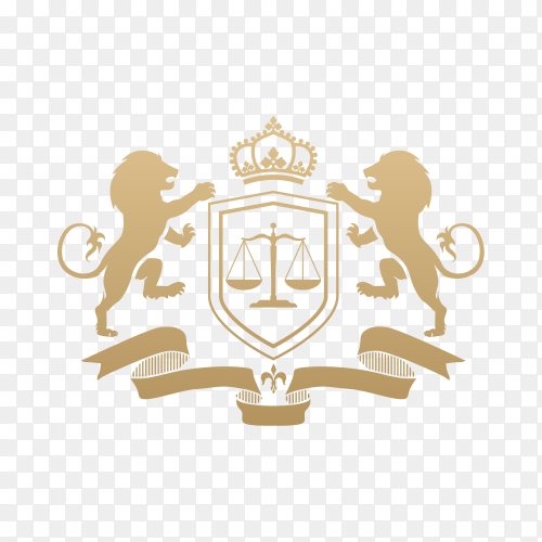 Lawyer Attorney Legal Law firm Logo design on transparent background PNG