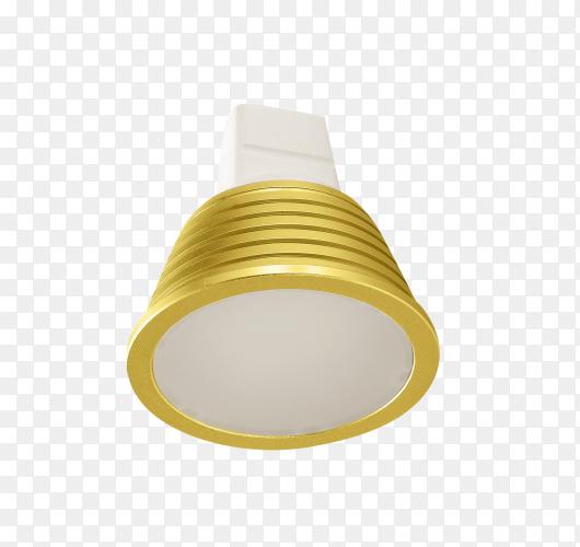 Led energy saving .bulb light isolated on transparent background PNG