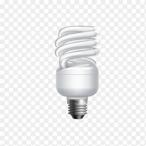 Led light emitting diode energy saving light bulb on transparent background PNG