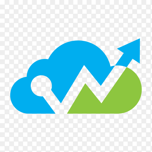 Line Chart Icon on transparent background PNG