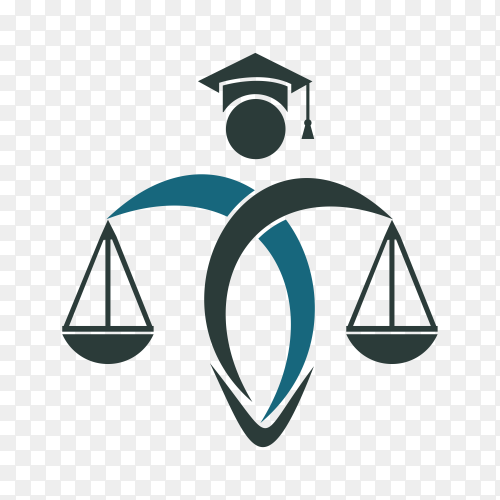 Man Holding Scales of Justice Logo. Law and Attorney Logo Design on transparent background PNG