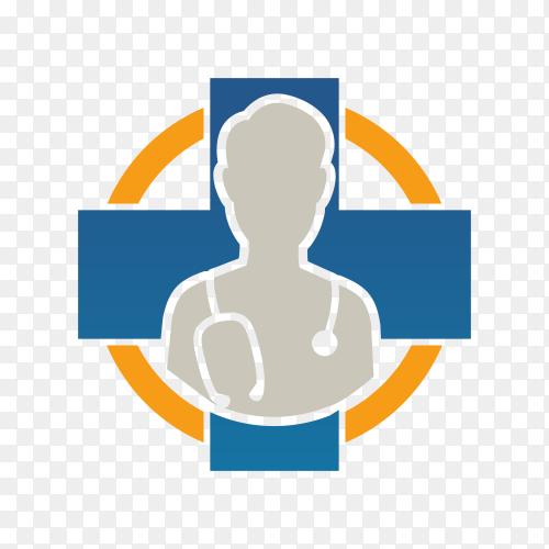 Medical logo design on transparent background PNG