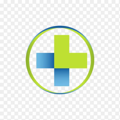 Medical logo design symbol on transparent background PNG