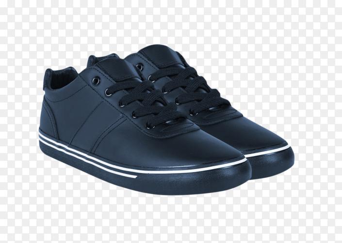 Men's fashion shoes blue on transparent background PNG