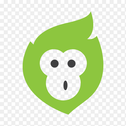 Monkey logo template on transparent background PNG