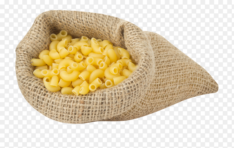 Pasta bag isolated on transparent background PNG