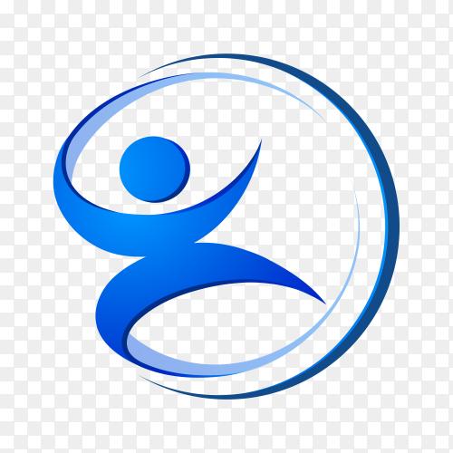 People care logo premium vector PNG