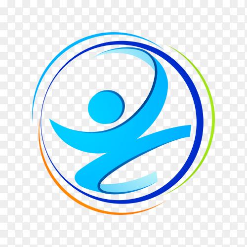 People health logo on transparent background PNG