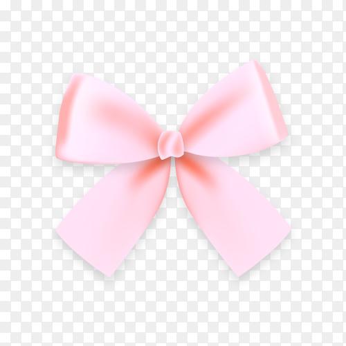 Pink bow illustration on transparent background PNG.png