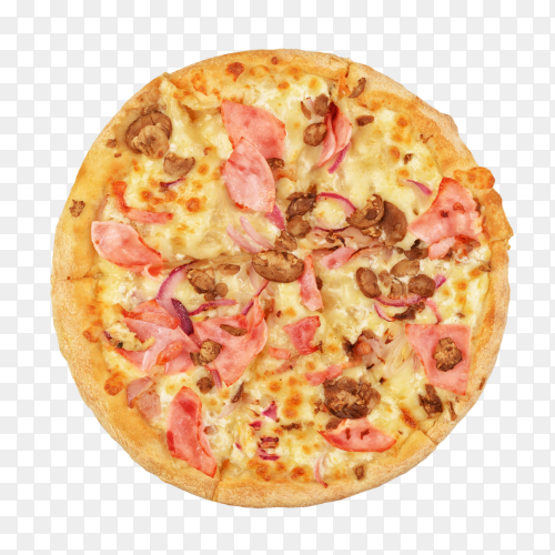Pizza isolated on transparent background PNG