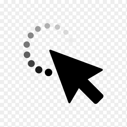 Pointer Arrow Icon Design Template. Click Sign on transpaent background PNG