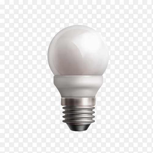 Power saving up bulb isolated on transparent background PNG