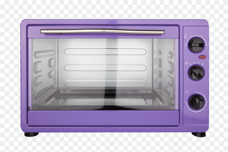Purple electric oven on transparent background PNG