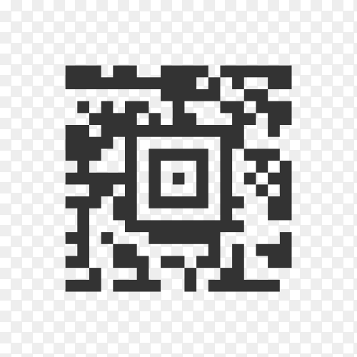 QR Code Icon. Illustration of Square Codes As A Simple Vector Sign & Trendy Symbol for Design, Websites, Presentation or Mobile Application on transparent background PNG