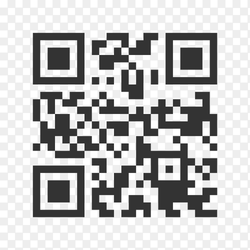 QR code sample for smartphone scanning isolated premium vector PNG
