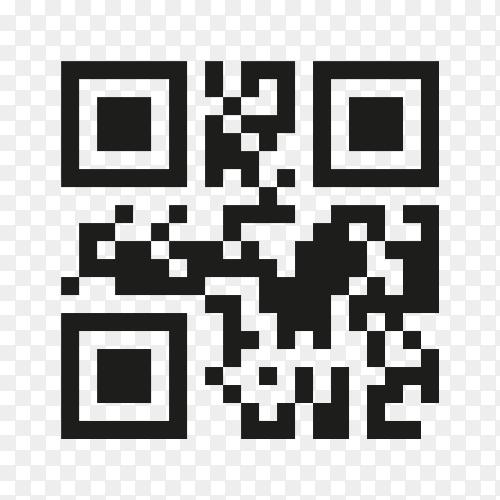 Qr code sign premium vector PNG