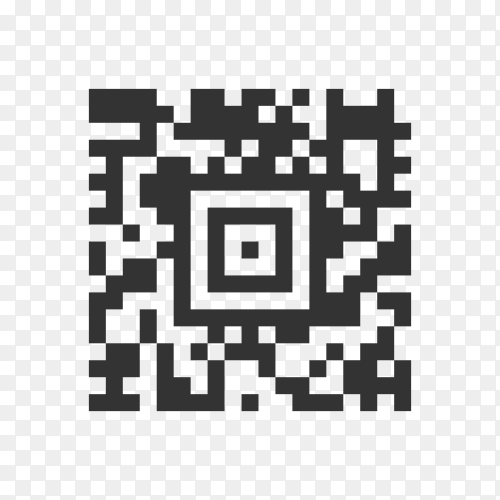 Qr code template to scan by smart phone on transparent background PNG