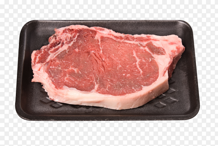 Raw meat on transparent PNG
