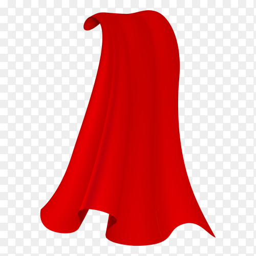 Red Cloak with flat design on transparent background PNG