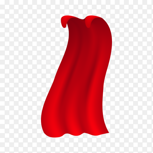 Red cloak isolated on transparent background PNG