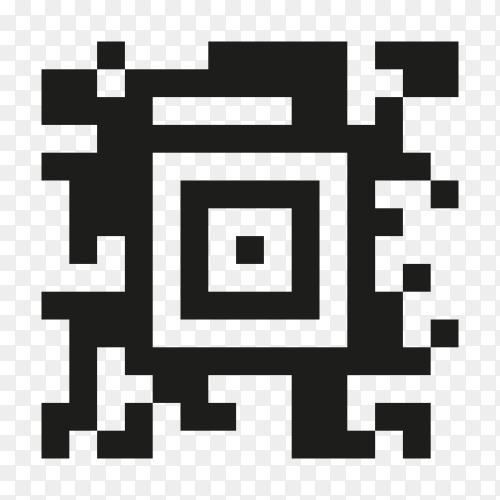 Sample QR code icon on transparent background PNG