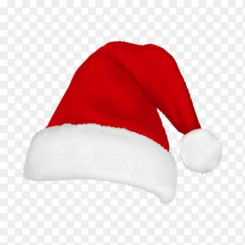 Santa's hat in flat design on transparent background PNG.png