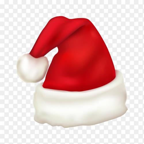 Santa claus hat design on transparent background PNG.png