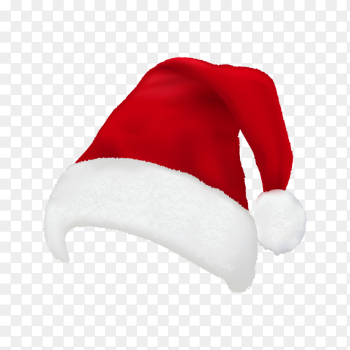 Santa claus hat on transparent background PNG.png