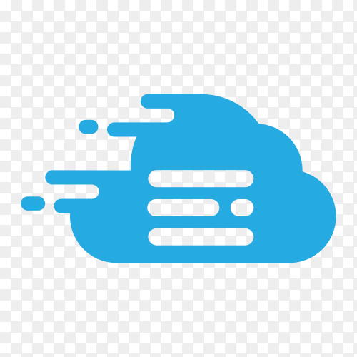 Server Delivery Icon Logo Design on transparent background PNG