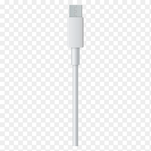 Smartphone charger cable on transparent background PNG