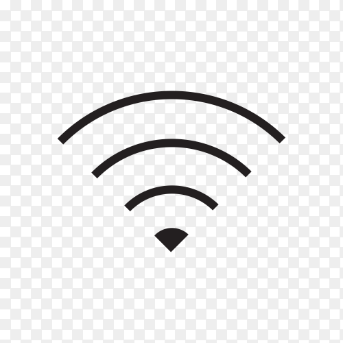 Smartphone internet signal icon . WiFi signal icon on transparent background PNG