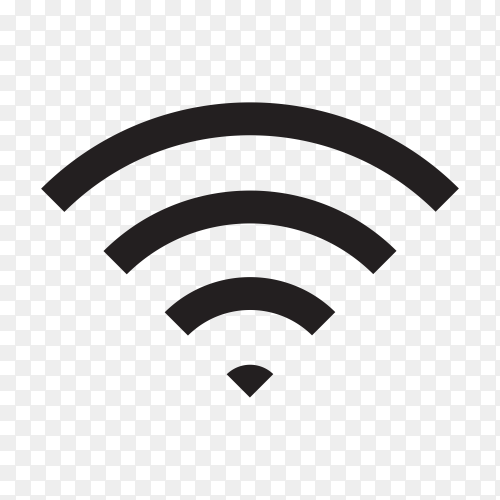Smartphone internet signal icon. black Wifi icon design on transparent background PNG
