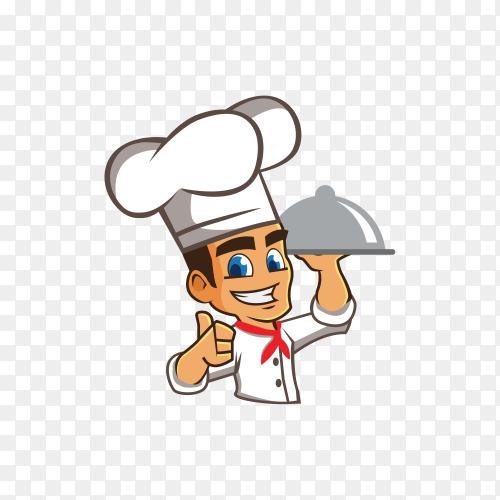 Smiling chef cartoon character premium vector PNG
