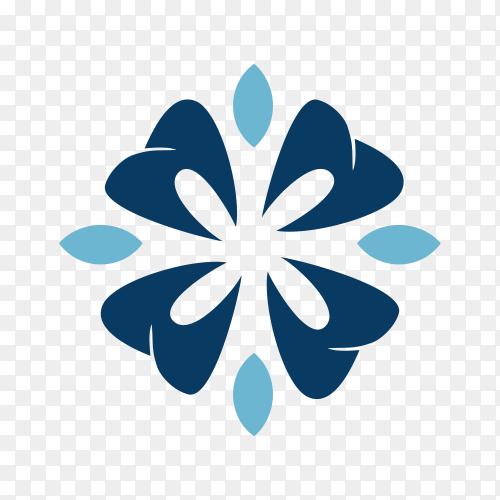 Star Dental logo design concept on transparent background PNG