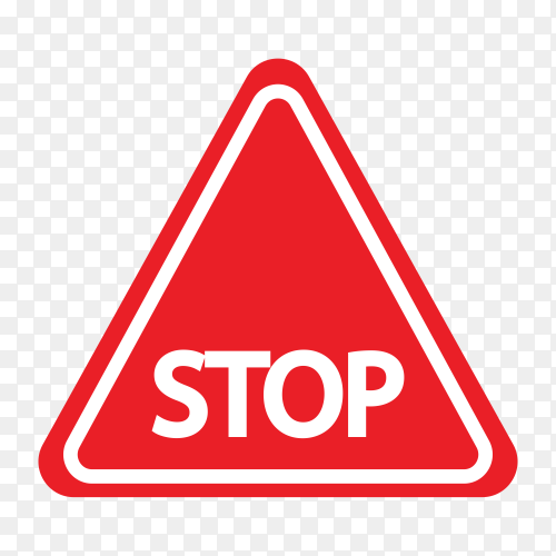 Stop sign isolate on transparent background PNG