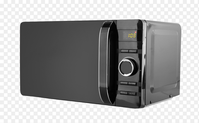 Stylish microwave oven on transparent background PNG
