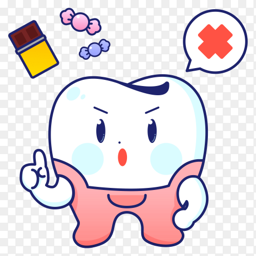 Teeth care icon on transparent background PNG