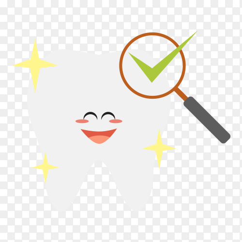 Tooth cleaning activities illustration on transparent background PNG