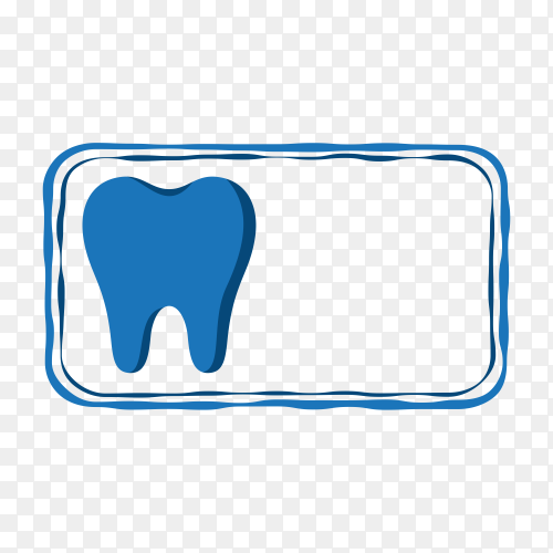 Tooth icon on transparent background PNG