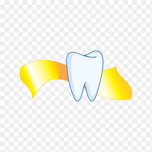 Tooth illustration on transparent background PNG.png