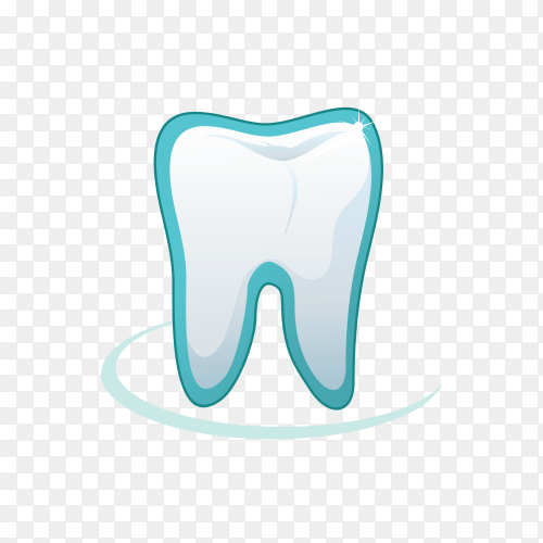 Tooth logo icon for dentist on transparent background PNG.png