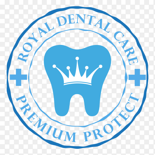 Tooth logo icon for dentist or stomatology dental care design template on transparent background PNG.png