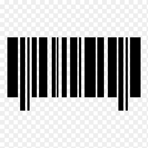 Various barcode, qr code and postcode isolated on transparent background PNG