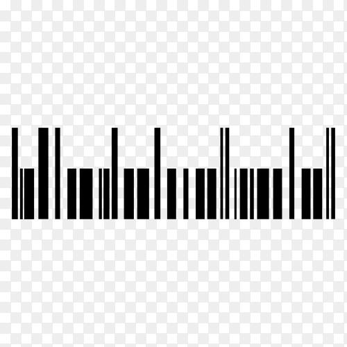 Various digital bar code illustration on transparent background PNG
