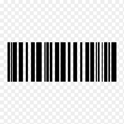 Various digital bar code isolated on transparent background PNG