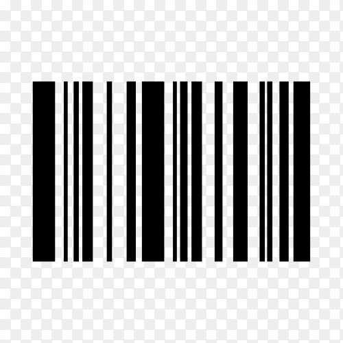 Various digital bar code on transparent background PNG