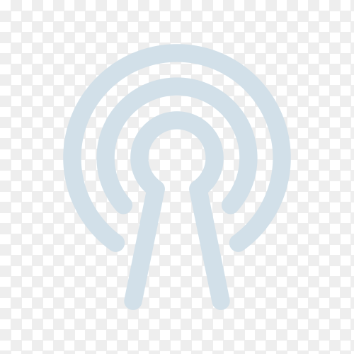 WiFi Signal Icon. WiFi Signal Symbol on transparent background PNG