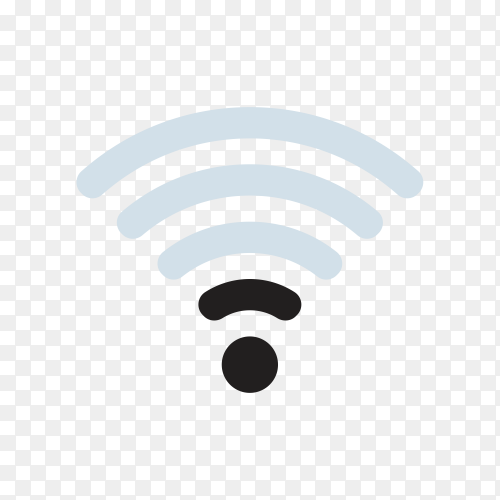 Wifi level. No network signal. Low status of internet. Wifi icon on transparent background PNG