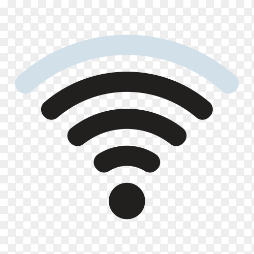 WiFi signal icon design on transparent background PNG