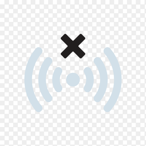 WiFi signal icon on transparent background PNG